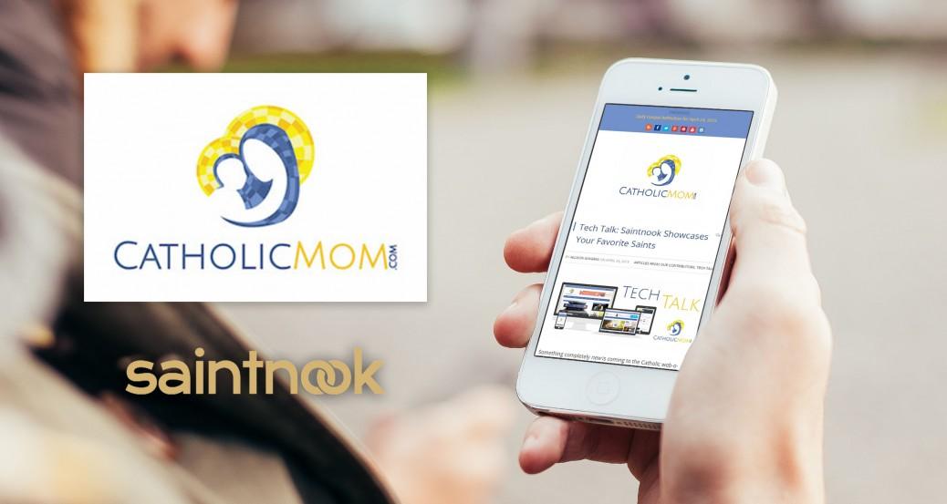 CatholicMom.com Reviews Saintnook on Tech Talk!