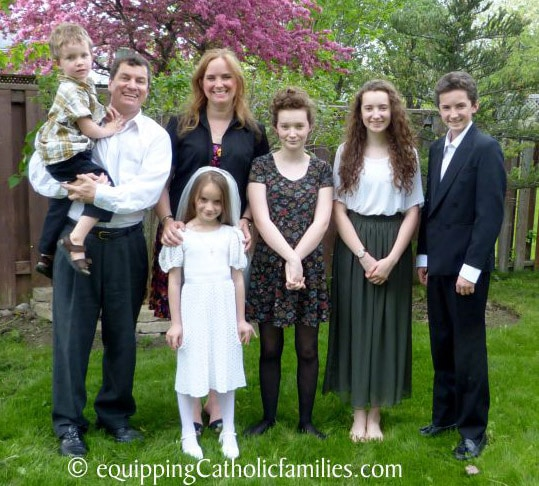 Team Spotlight: An Interview with Monica McConkey - Bridget First Communion family photo