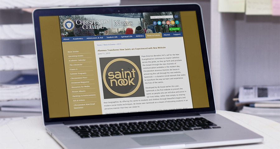 Christendom Review: Alumnus Transforms How Saints are Experienced with Saintnook