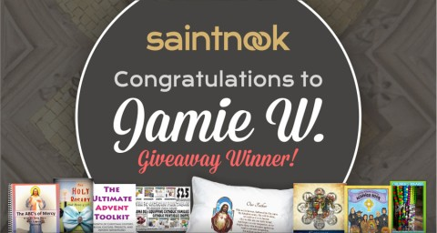 Enter the Saintnook June Giveaway to Win $85 Worth of Catholic Prizes!