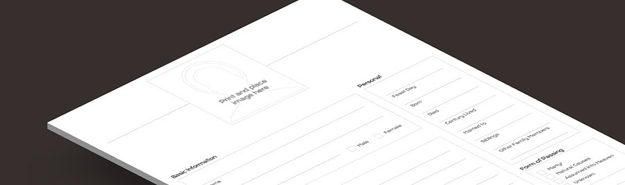 Freebie: Download the 'Build Your Saint Profile' Worksheet - B&W